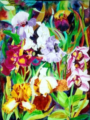 Orchids & Irises I