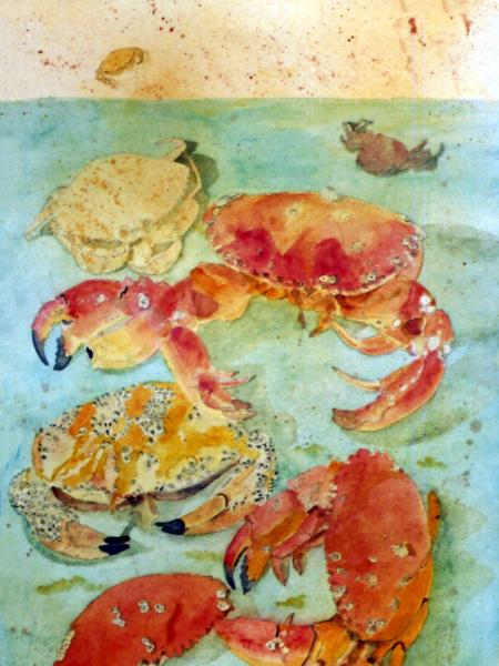 A Crabby Painting
