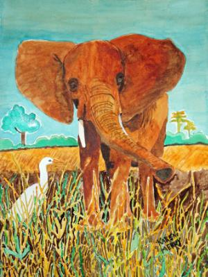 African Elephant and Friends